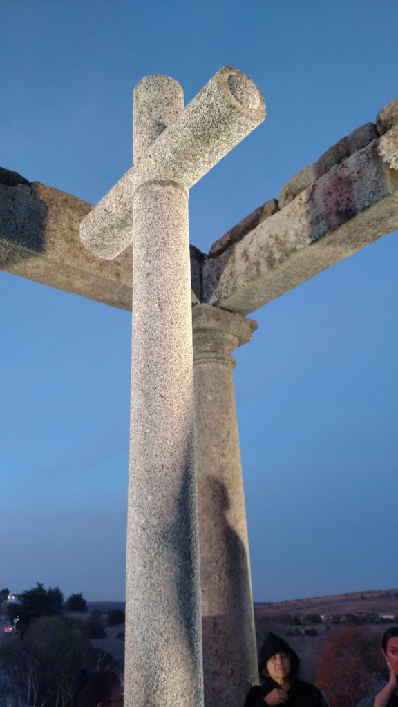 tall concrete cross